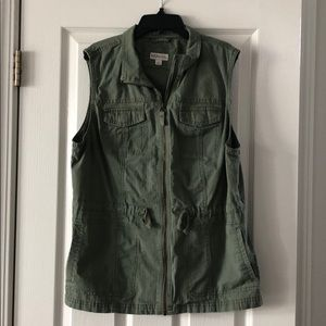 Merona Army Green Women's Vest - Size Large
